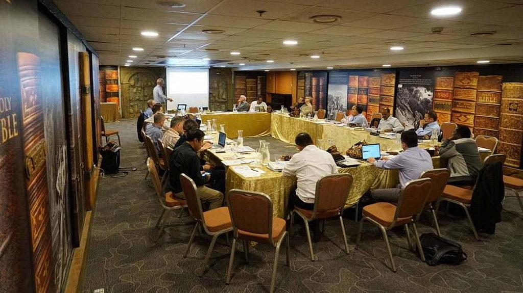 Общий вид всемирного совещания о Заочных Библейских школах, в Иерусалиме, Израиль, с 22-29 апреля 2018. [Фото: Виктор Халберт, Новости Транс-Европейского дивизиона]