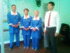 Три человека крестились в Первомайском
