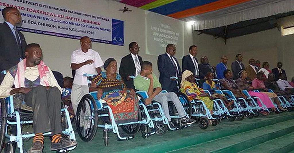 Руанда благодарна адвентистам за поддержку людей с ограниченными возможностями