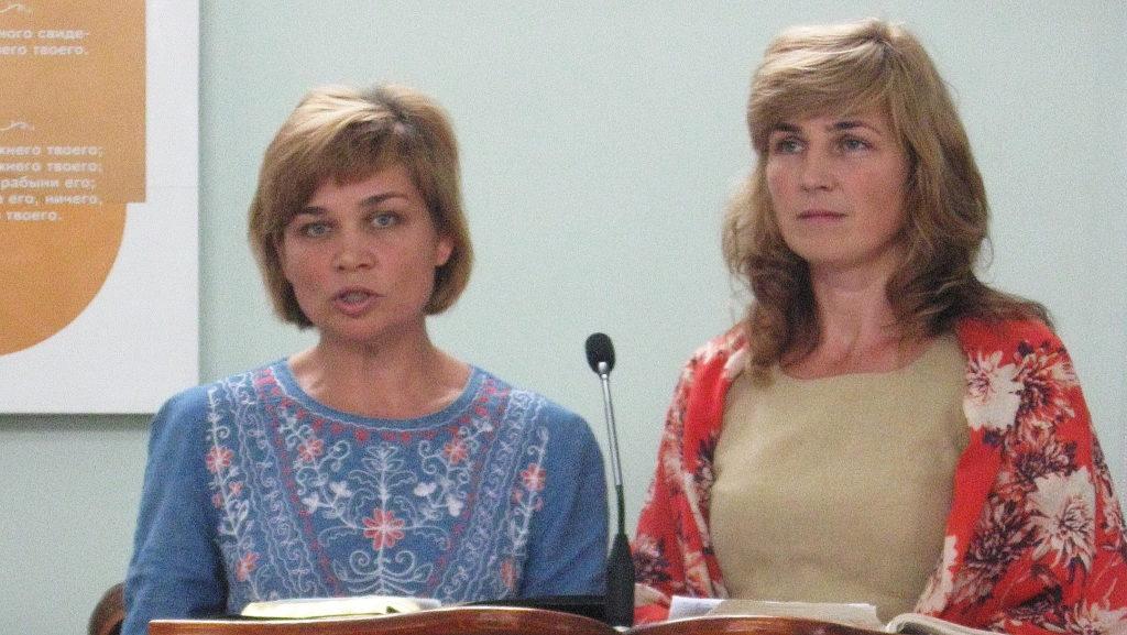Ведущие Светлана Кваша и Наталья Степанова