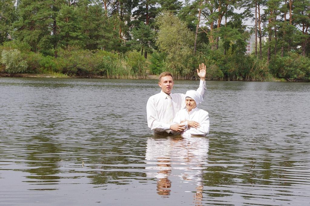 В церкви АСД города Энергодар состоялось крещение