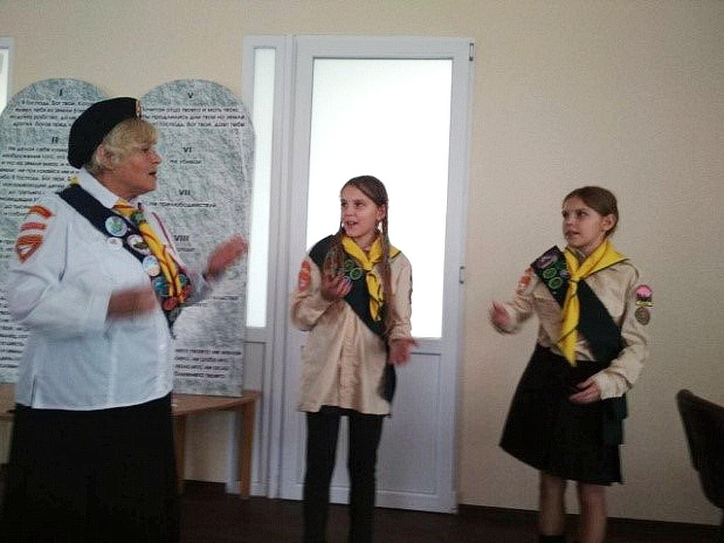 Служение в Обуховской церкви было посвящено следопытам