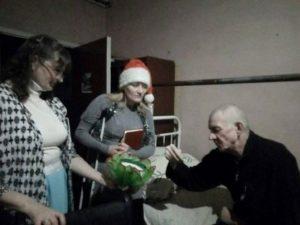 Новогоднее служение в Горяновском доме милосердия прошло со стихами и пением
