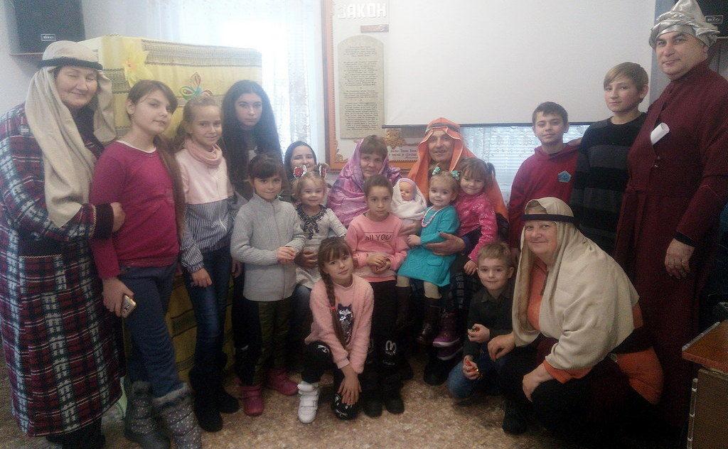 Рождественскую историю рассказали детям в Пятихатках