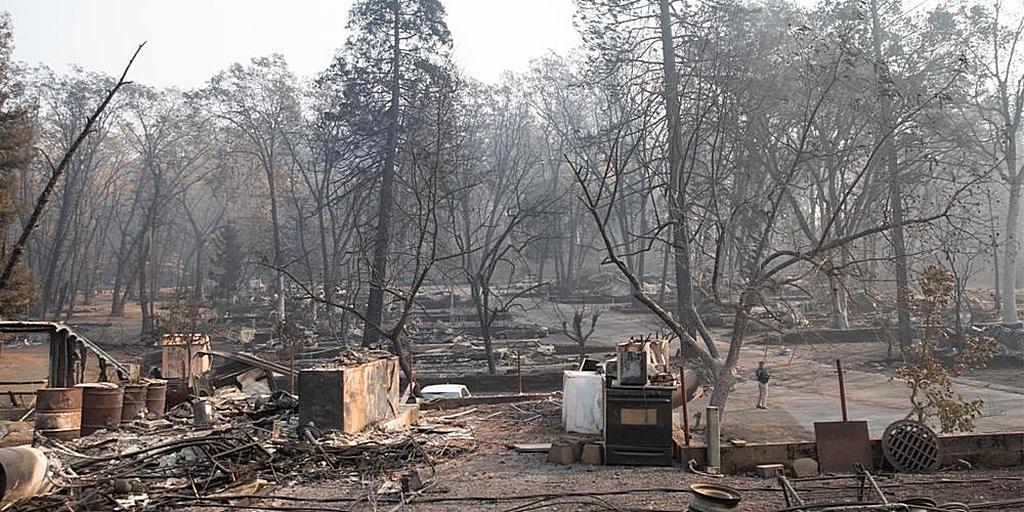 Последствия пожара Кэмп в Северной Калифорнии [Фото: Белый дом / Шила Крейгхед]
