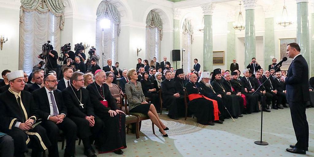 В Польше религиозные представители встретились с президентом страны
