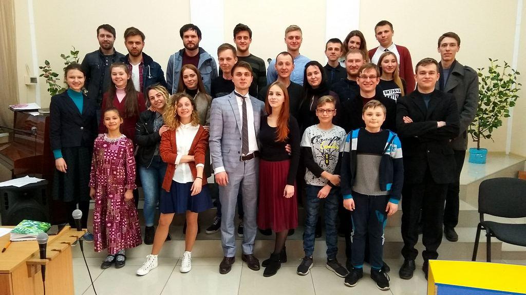 Основные участники молодежной викторины в Кривом Роге