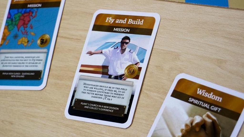 Оформление карточек в новой настольной игре GoYe основано на реальных адвентистских служителях, евангелистах и символах. [Фото: Adventist Record]