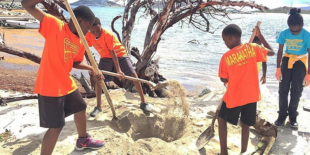 Адвентисты сажают кокосовые пальмы, чтобы украсить пляжи, пострадавшие от урагана
