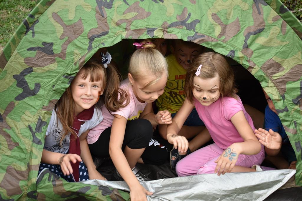 Правильно установленная палатка превращается в домик