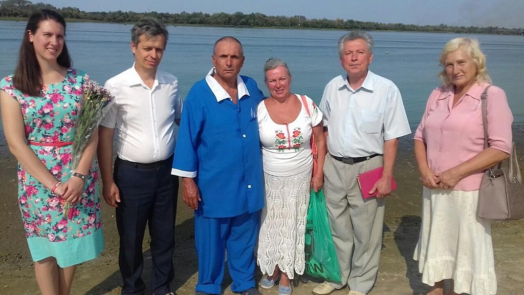 В Каменском состоялось крещение