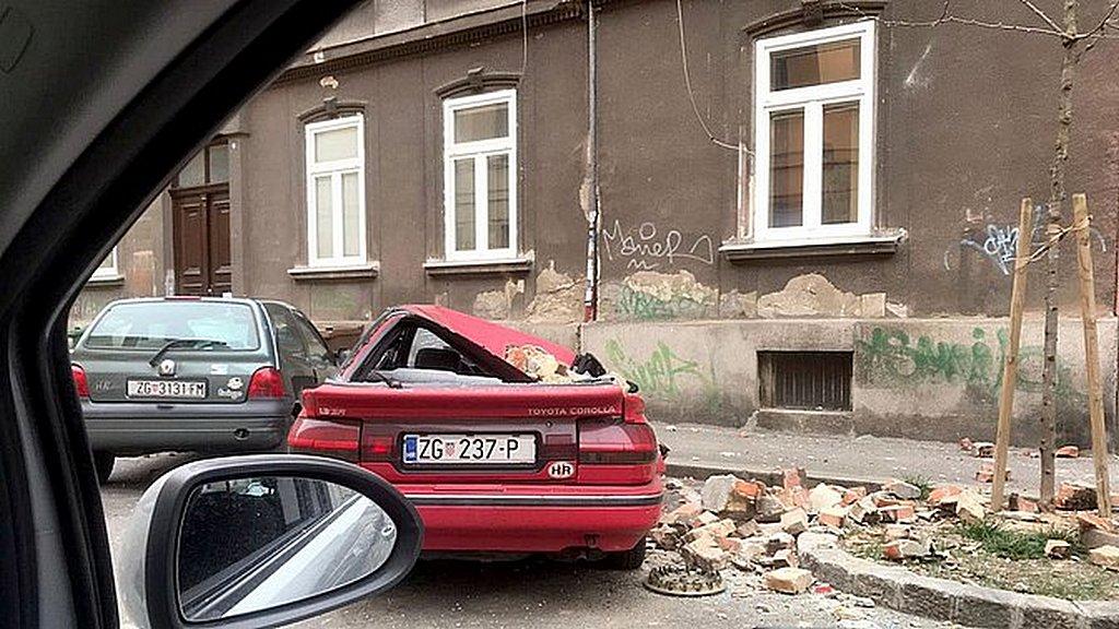 Многие машины были повреждены в результате падения кладки. [Фото предоставлено APN].
