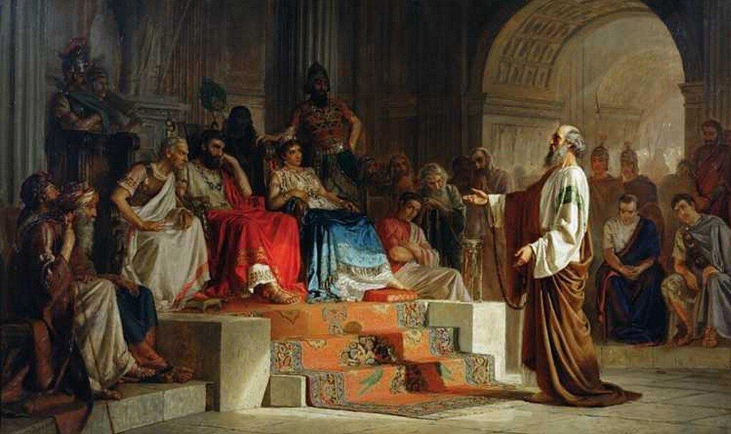 Апостол Павел свидетельствует перед царем Агриппой