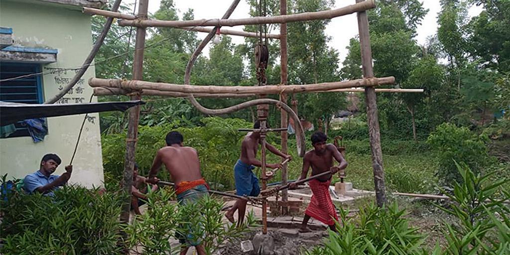 Бурение на островах - уникальный рабочий процесс в Индии