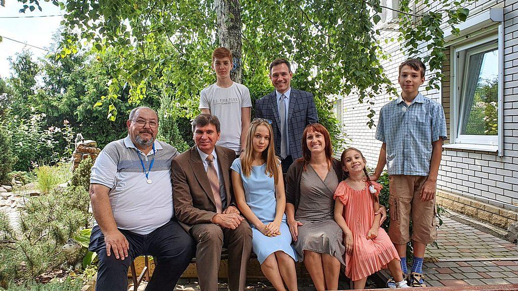Валерий Водопьянов, Александр Слюсарский и семья Матюхиных