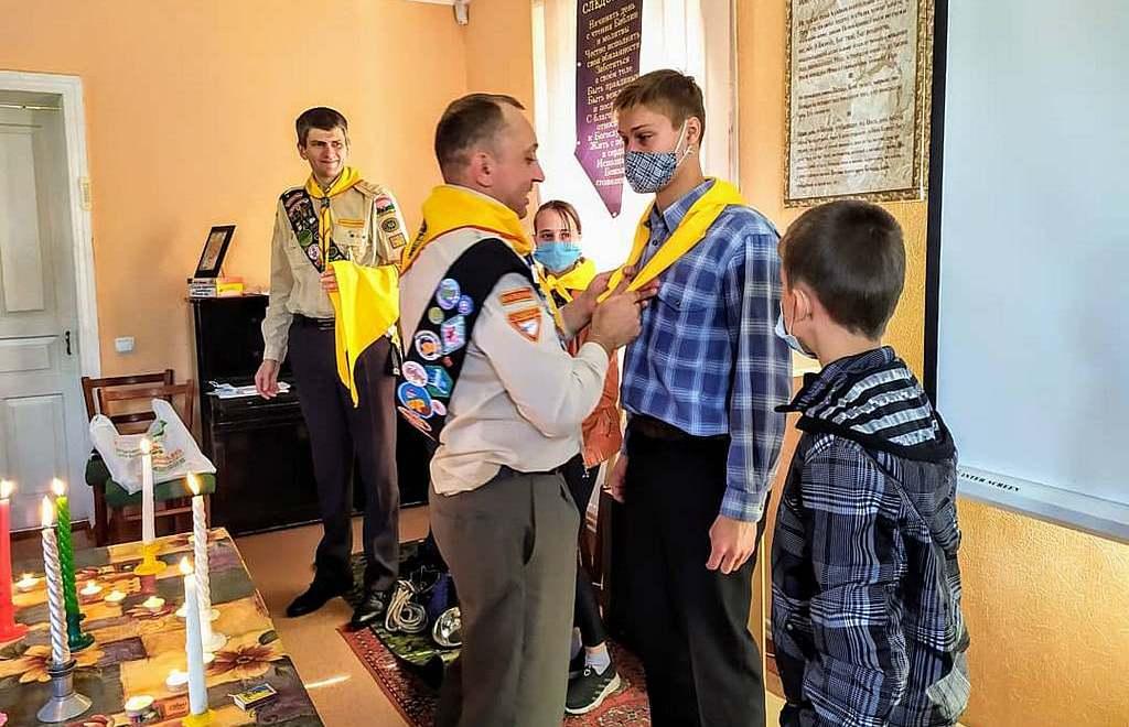 Церковь в Желтых Водах отметила 70-летие Следопытского движения