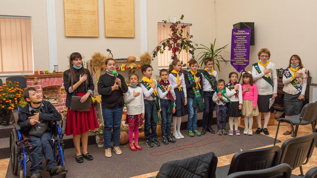 В первой Харьковской церкви состоялось посвящение следопытов