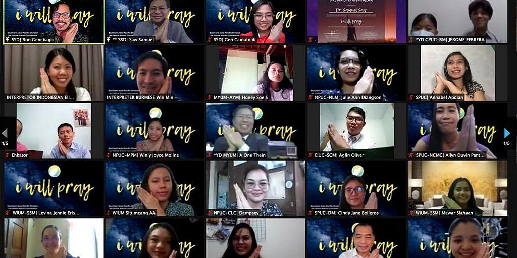 Мероприятие Молитвенная Сетевая Конвенция «Я буду молиться», собрало сотни молодых адвентистов со всего Южного Азиатско-Тихоокеанского дивизиона (SSD) на неделю размышлений, вдохновения и молитв. [Фото: Южный Азиатско-Тихоокеанский дивизион]