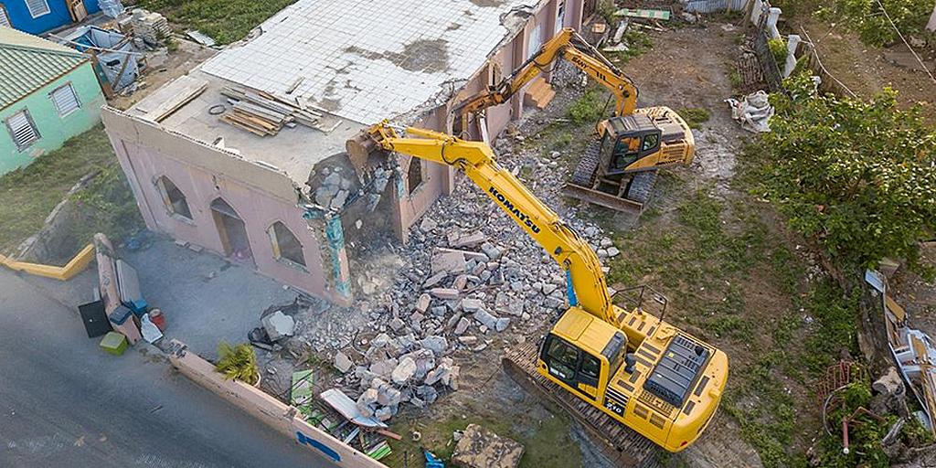 Старейшая адвентистская церковь на Британских Виргинских островах разрушена