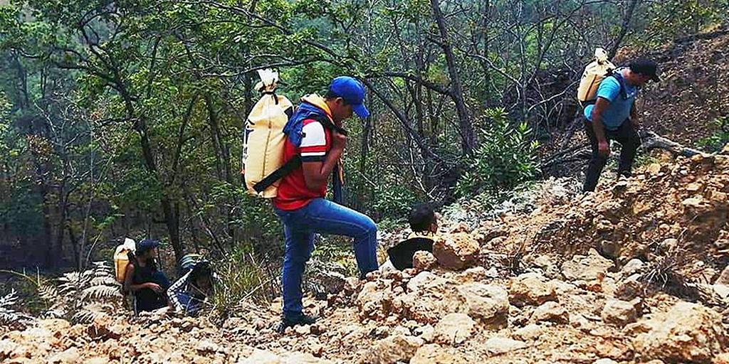 В Сальвадоре молодые адвентисты помогают бороться с горными пожарами