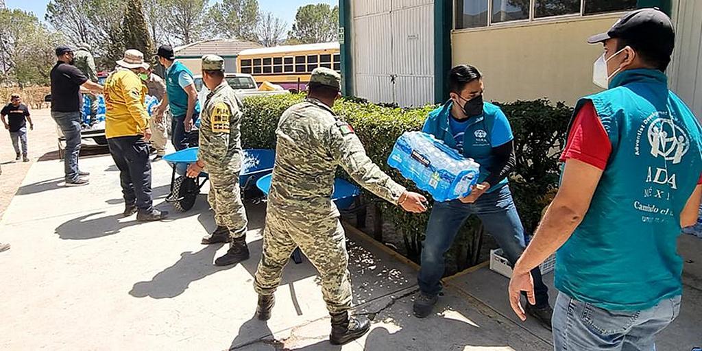 В Мексике ADRA помогает спасателям бороться с лесными пожарами