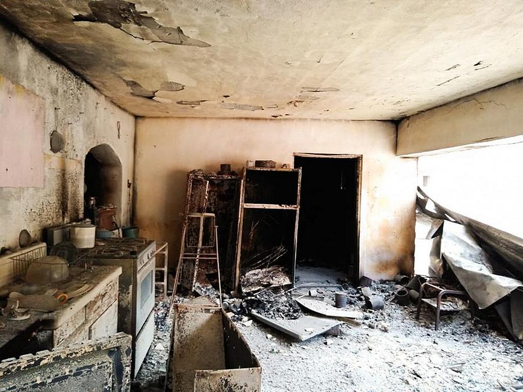 То, что осталось от дома Хесуса Хименеса после пожара, охватившего Восточную Сьерра-Мадре. [Фото: Адвентистская церковь Маранафа]