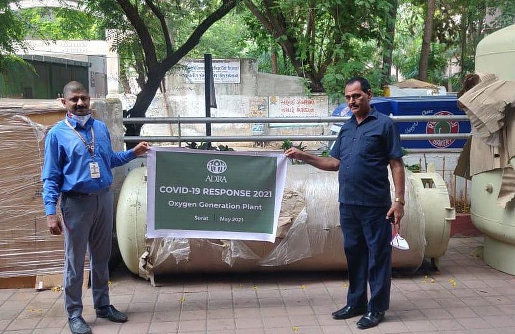 ADRA поставляет новую установку по производству кислорода с абсорбцией под давлением для больницы METAS в Индии, одной из крупнейших адвентистских больниц, где лечат пациентов с COVID-19. [Фото: ADRA Индии]