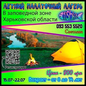 Летний палаточный лагерь Fishka для подростков
