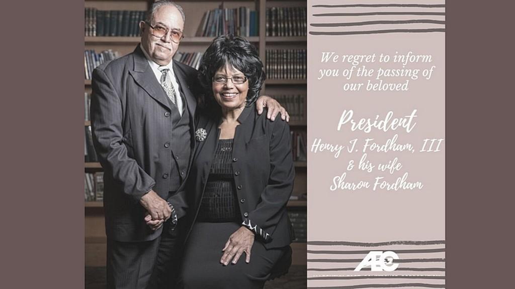 С прискорбием сообщаем вам о кончине нашего любимого президента Генри Дж. Фордхема III и его жены Шерон Фордхем [Фото любезно предоставлено Allegheny East Conference]