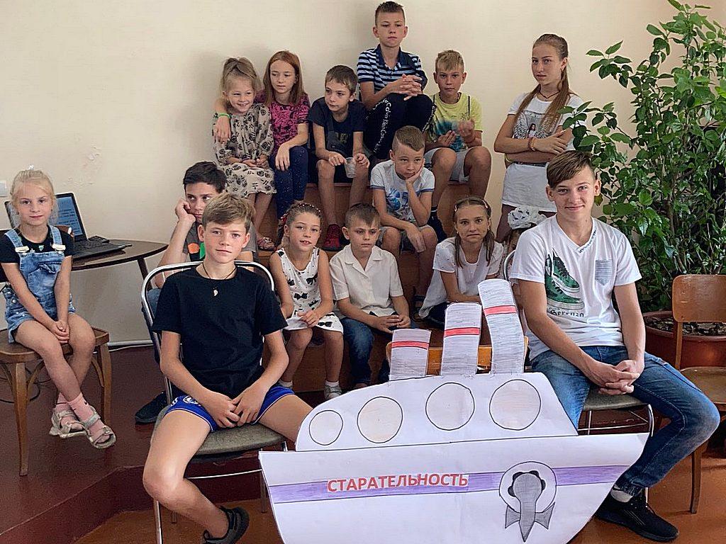 На служение благословения детей в Вольнянске пришли почти 20 ребят