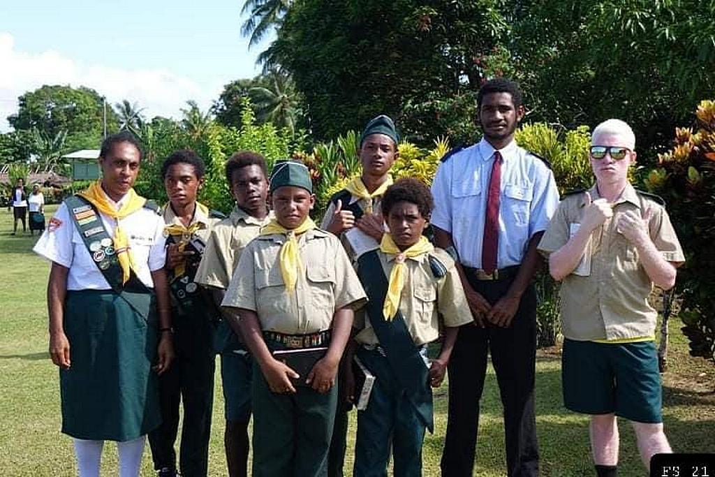 Следопыты из церкви адвентистов седьмого дня Вуала в Папуа-Новой Гвинее. (Фото: Генри Сулувале)