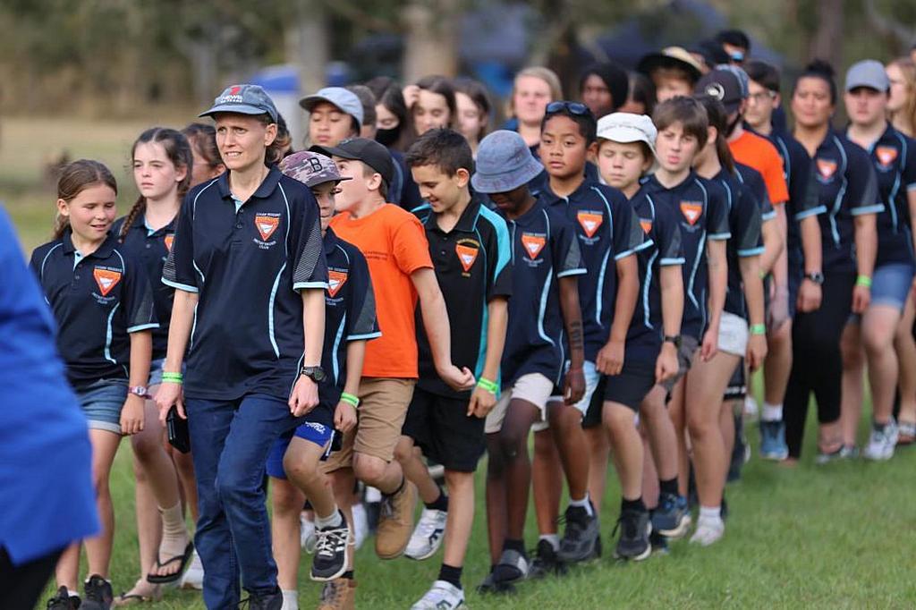 Следопыты австралийского лагеря Логан во время празднования Всемирного дня следопытов в 2021 году. (Фото: Генри Сулувале)