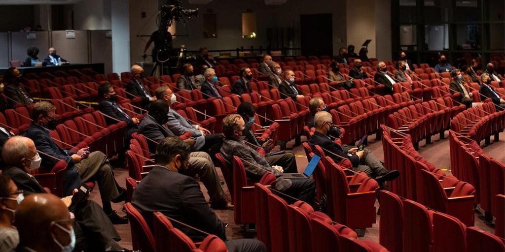 Годичное совещание 2021 года - это гибридное мероприятие, на котором часть делегатов будет присутствовать на месте, а остальные - виртуально. [Фото: Brent Hardinge/Adventist Media Exchange (CC BY 4.0)]